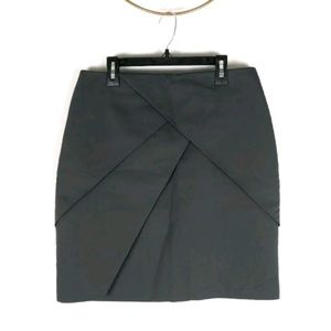 H&M tiered asymmetrical straight pencil skirt